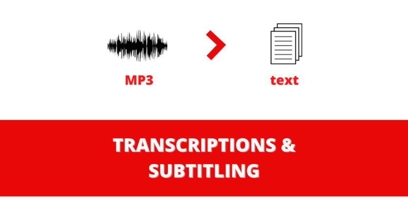 Transcription and Subtitling Audio to text